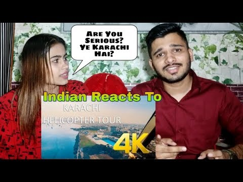 Karachi City Aerial View & Helicopter Tour 4K Ultra HD | Indian Reaction