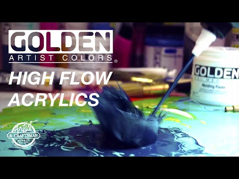 GOLDEN - High Flow Acrylics: Unique And Versatile Tool For Artists - Artist & Craftsman Supply