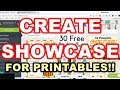How  To Make Showcases For Printables On Canva – Canva Tutorial
