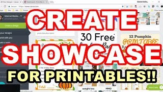 How  To Make Showcases For Printables On Canva - Canva Tutorial