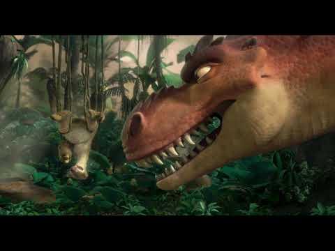 Сид выясняет отношения с динозаврихой. \ Ледниковый период 3: Эра динозавровIce Age: Dawn oft he Din