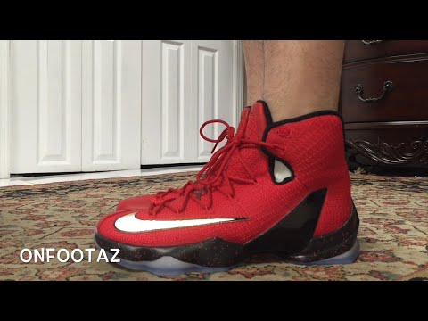 8a398617d4d Nike Lebron 13 XIII Elite University Red On Foot - YouTube