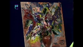 Уроки рисования (№ 66) пастелью, масляными красками. Рисуем цветы и создаем букет-картину