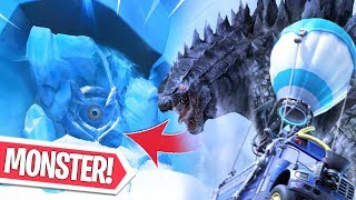 NIEUWE ZIPLINE GLITCH! WAT IS DAT MONSTER IN POLAR PEAK?! Fortnite Bataille Royale