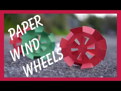 Paper Wind Wheels - Easy, Cheap, and Fun Toy for a Windy Day!