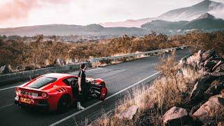 Driving The Ferrari F12 TDF Up An Active Volcano!
