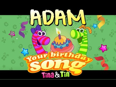 Tina & Tin Happy Birthday ADAM (Personalized Songs For Kids) #PersonalizedSongs