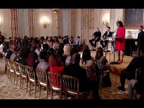 The First Lady Speaks to Students