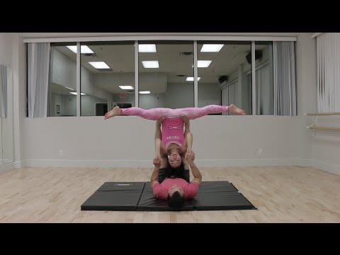 Beginner Acro Yoga: Straddle Bat and Cartwheels