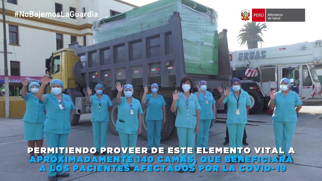 Hospital Nacional Arzobispo Loayza recibió la donación de una nueva planta de oxígeno