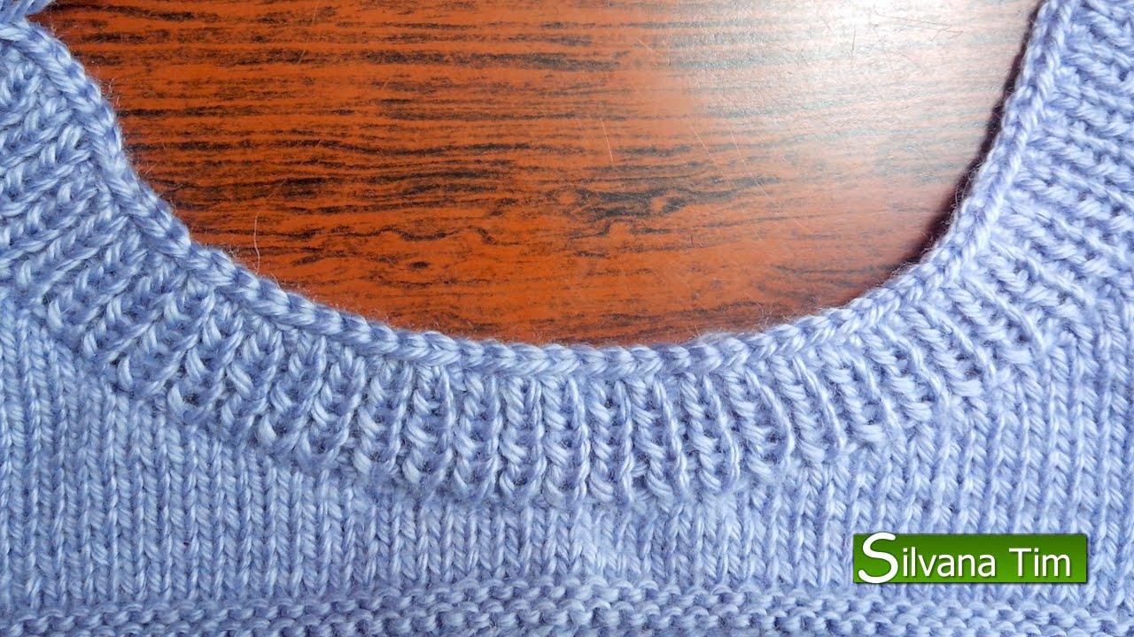 Escote o cuello redondo parte3 tejido con dos agujas 75 - Como hacer ochos de punto ...