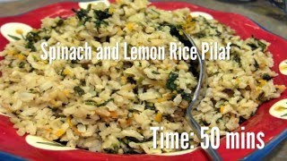 Spinach and Lemon Rice Pilaf Recipe