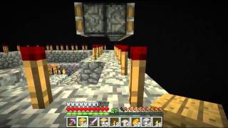 Minecraft Underground Challenge Ep. 42 - Building Enderman xp farm in The End.