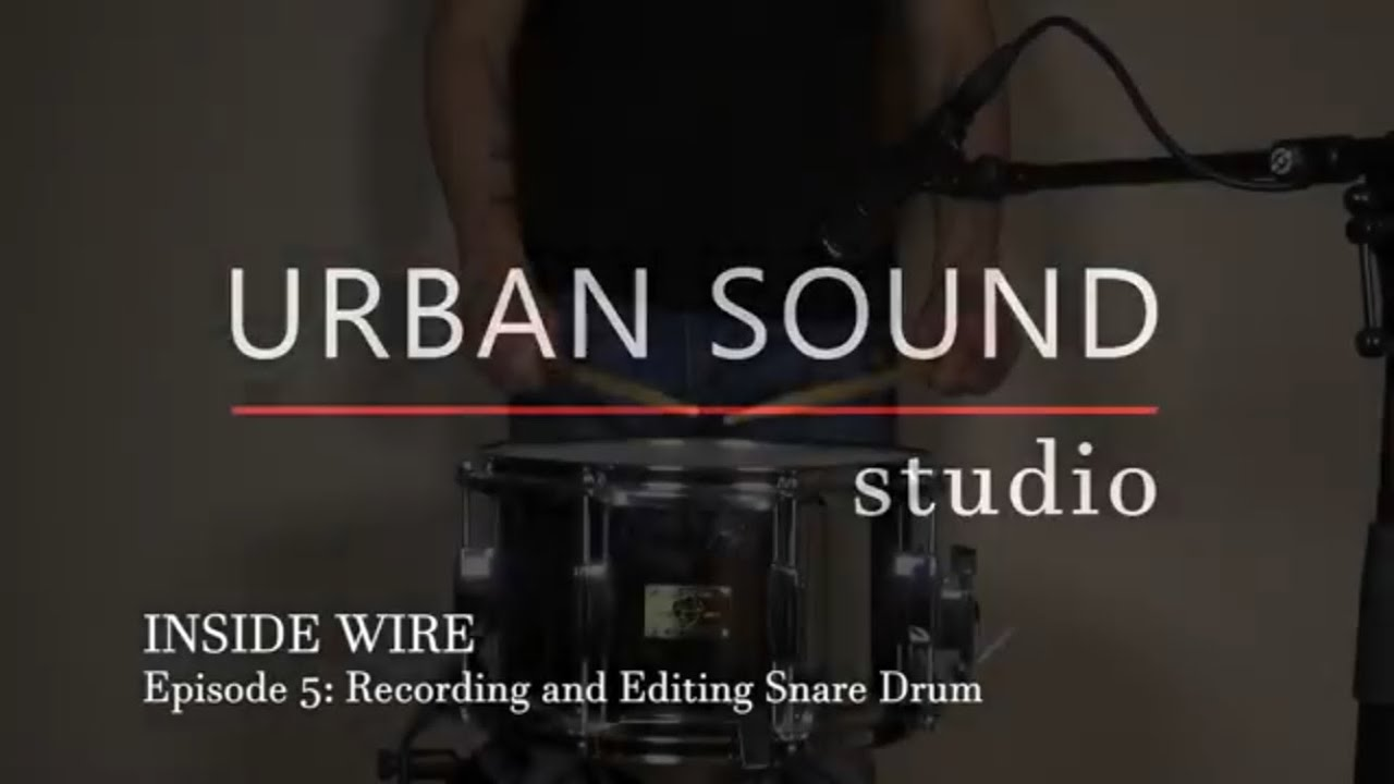 Recording and Mixing Snare Drum with Console 1 - Inside Wire ...