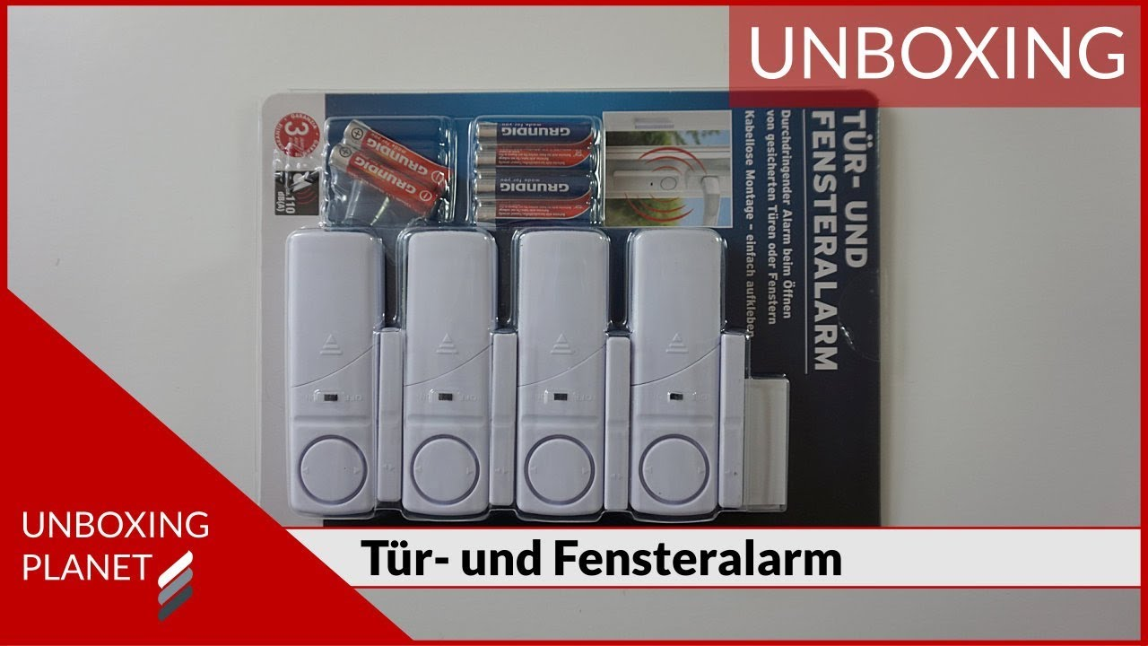 t r und fensteralarm f r sicherheit unboxing planet youtube. Black Bedroom Furniture Sets. Home Design Ideas