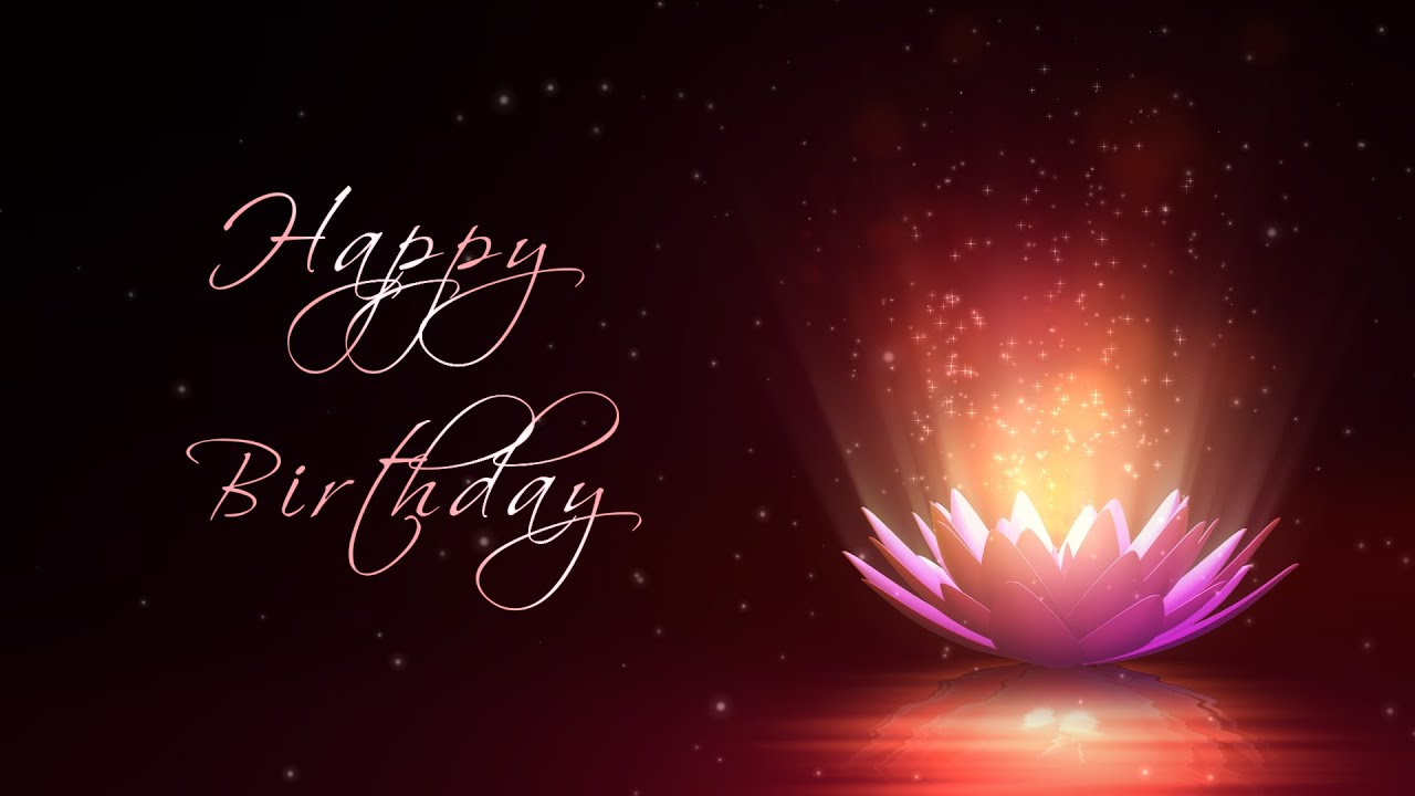 Happy Birthday Motion Graphics Background Lotus Flower Youtube