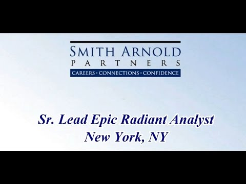 Sr. Lead Epic Radiant Analyst (CLOSED) | Smith Arnold Partners