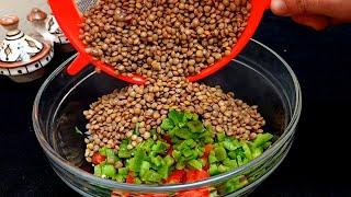 Cuisine Marocaine : La Célèbre Salade de Lentilles ASMR RECIPE