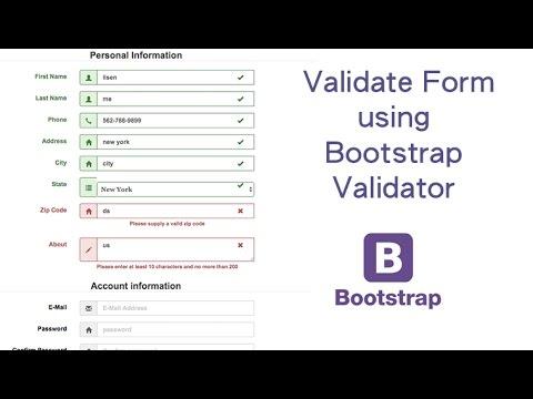 Validate Form using Bootstrap Validator