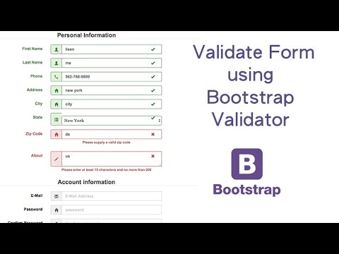Validate Form Using Bootstrap Validator Youtube