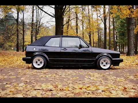 VW Golf Mk1 cabriolet-convertible black and silver colors.(name model ...