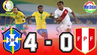ANALISIS 🔴 Brasil 4 - 0 Perú 🔴 Grupo B   Copa América 2021