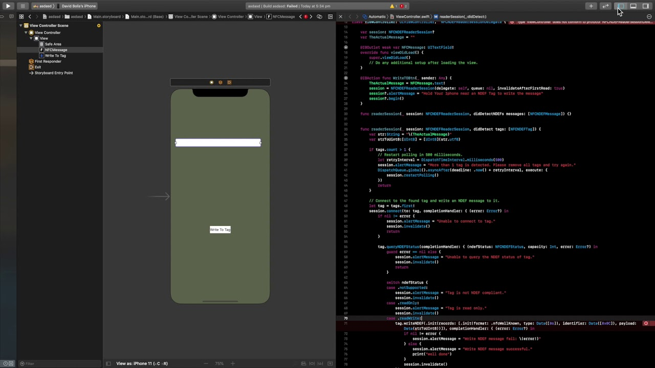 How to Create an NFC Writer App for IOS