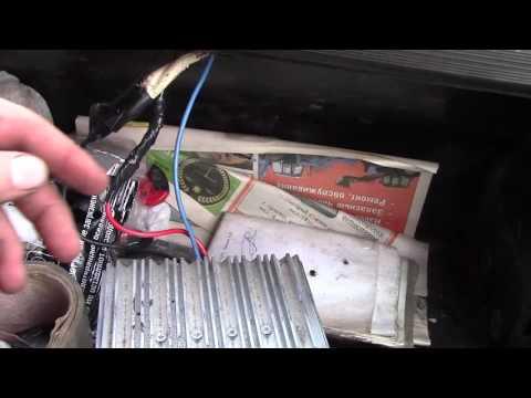 Как подключить магнитолу в камазе на 12 вольт