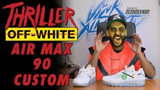 Off-White Air Max 90 Michael Jackson Thriller Custom by Vick Almighty