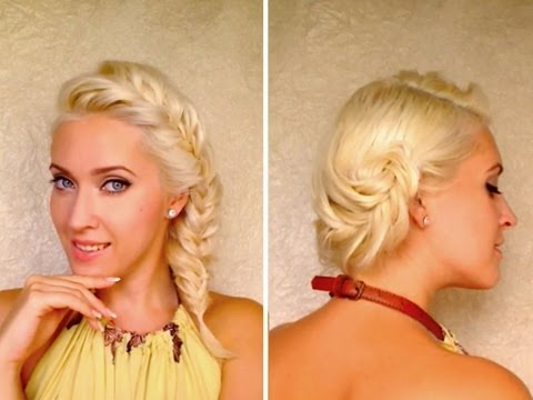 french-fishtail-braid-hairstyles-for-medium-long-layered-hair-tutorial-messy-updo-for-everyday