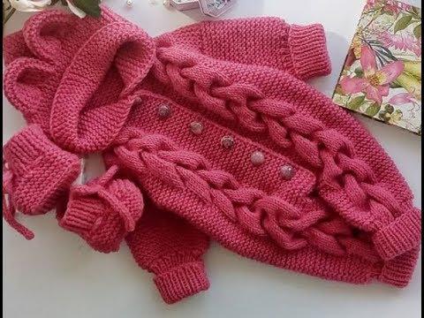 Детский комбинезон схема вязания спицами для новорожденного