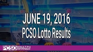 PCSO Lotto Results June 19, 2016 (6/58, 6/49, Swertres & EZ2)