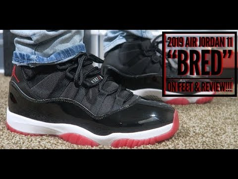 "2019 AIR JORDAN 11 ""BRED"" ON FEET & EARLY REVIEW!!!"
