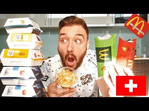 Dégustation McDonald's SUISSE ! VEGGIE BURGER ET DESSERT INEDIT !