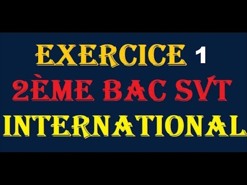 exercice 2ème bac Svt international géologie