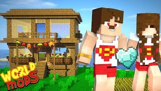 YENİ EVİM - KALPLİ ELMAS #13 (Minecraft Modlu Survival)