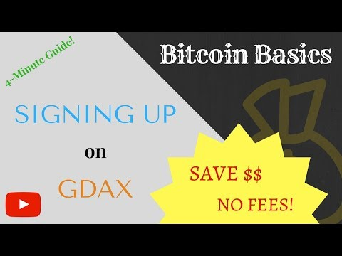 NO FEES On GDAX! Here's How To Sign Up | SAVE MONEY! | Bitcoin Basics