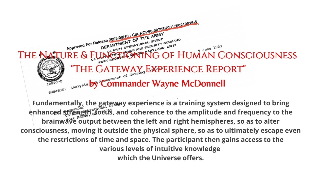 Reality is a Hologram? So Says The CIA in GateWay Experience Document
