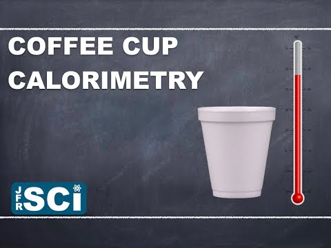coffee cup calorimetry English: photo of coffee cup calorimeter set up this product was funded by a  grant awarded by the us department of labor's employment and.