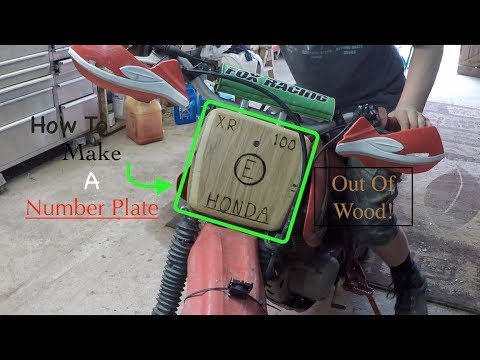 How to Make An AWESOME Wooden Number Plate! \\ For Any Motorcycle!!