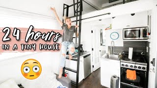 24 HOURS IN A TINY HOUSE CHALLENGE! | Aspyn Ovard