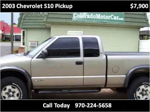 2003 chevrolet s10 pickup used cars fort collins co youtube. Black Bedroom Furniture Sets. Home Design Ideas