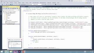 JavaScript Compatibility in Cross Platform Application in Visual Studio