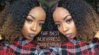 The BEST AFFORDABLE Aliexpress Curly Hair | Young Africana