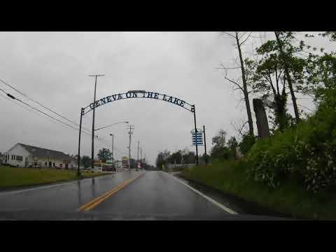 Driving From Ashtabula To Geneva-on-the-Lake, Ohio