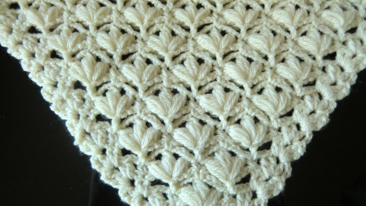 Crochet Pattern \'* VERY PRETTY AND EASY FLOWER PATTERN FOR A SHAWL ...