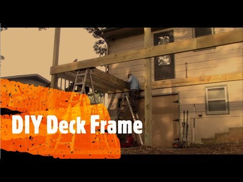Framing And Attaching A Deck To A House