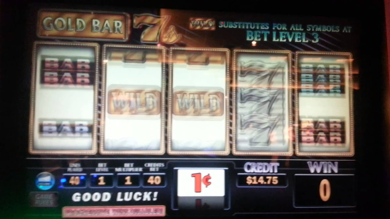Gold Bar 7's slot machine at Empire City casino - YouTube