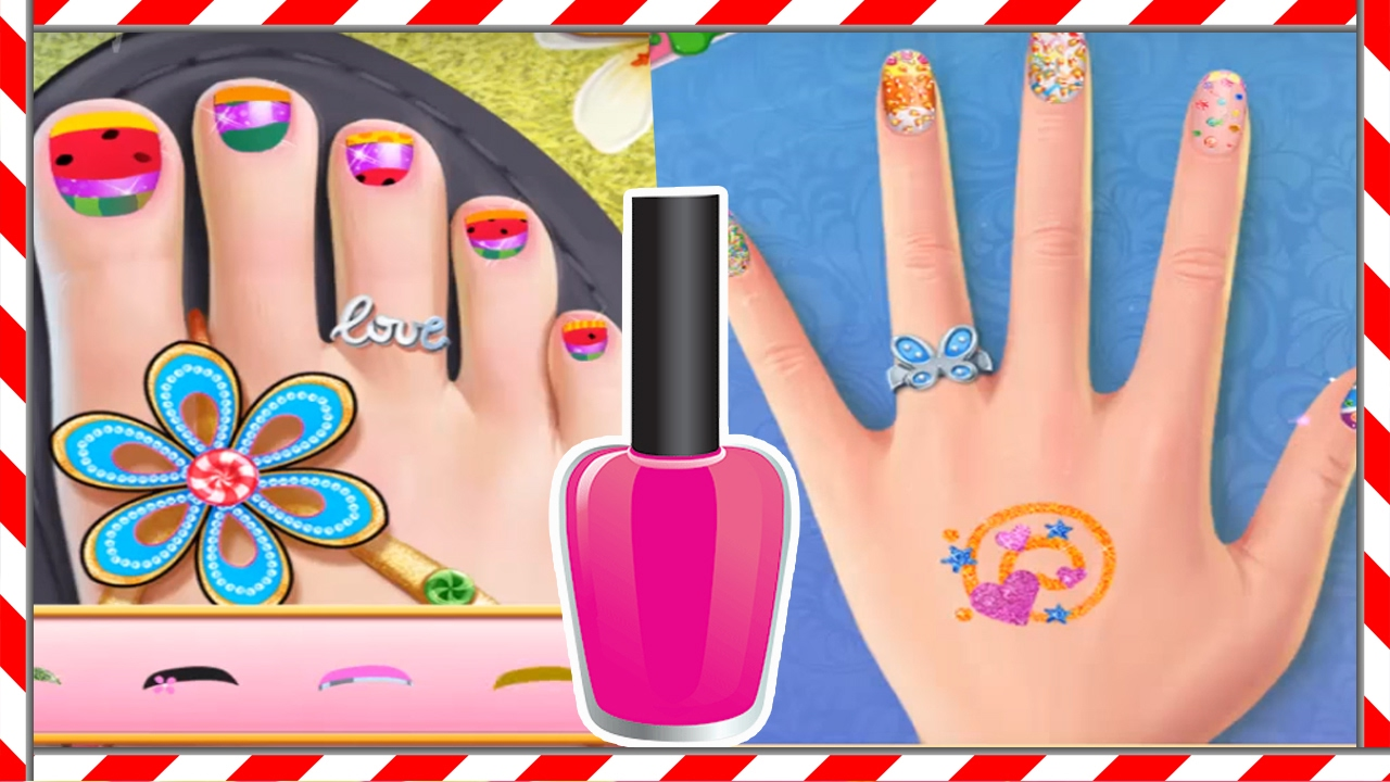 Kids Games Candy Nail Art Sweet Fashion Tabtale Nail Makeover Game
