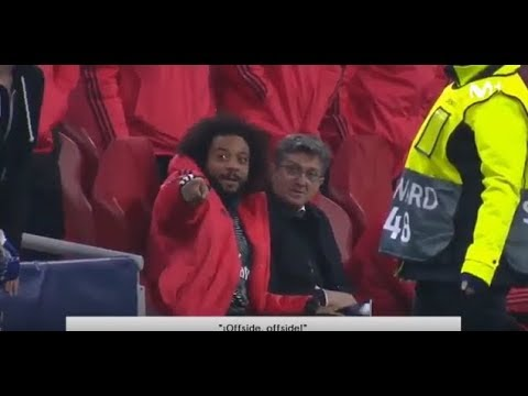 Marcelo funny reaction when VAR disallowed Goal for Ajax | Champions League | Mp3